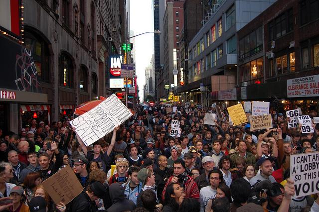 Protest Okupirajmo Volstrit 15. oktobar 2011, Njujork