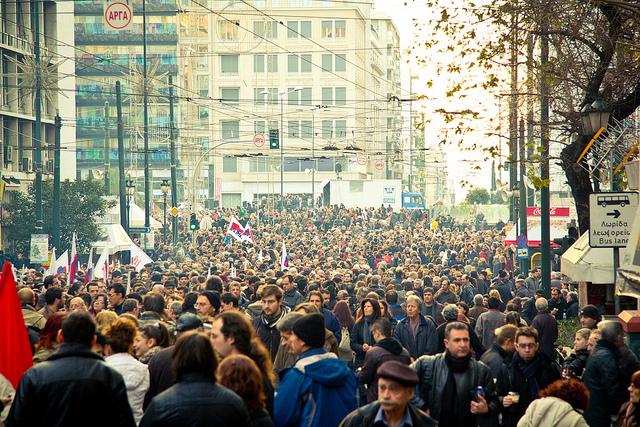 Protest protiv mera štednje 12. februar 2012, Atina