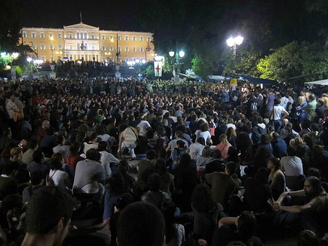 Direktna demokratija na Sintagma trgu u Atini, maj 2011.