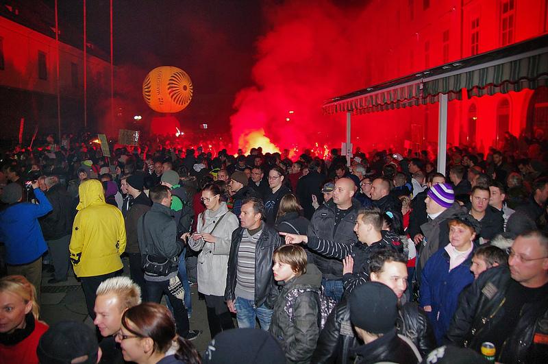 Protesti u Mariboru, decembar 2012 FOTO Jumpin'Jack