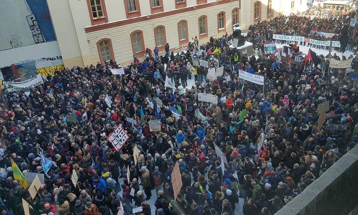 Protest protiv malih hidroelektrana, Plato, 27. januar 2019.