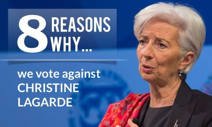 GUE/NGL: 8 dobrih razloga zašto Lagard ne treba da bude na čelu Evropske centralne banke