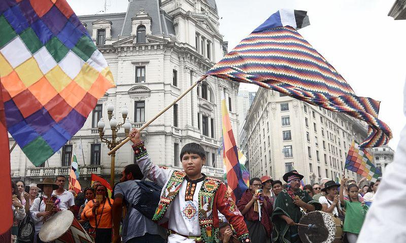 Protest podrške Moralesu, flickr.com_santiagosuburbano