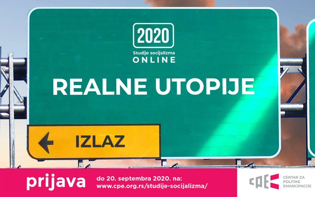 Prijavite se za Studije socijalizma 2020 – Realne utopije